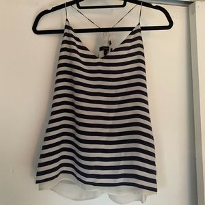 J Crew Women's Black and White striped Tank top |